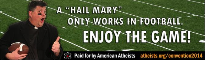 Atheist super bowl